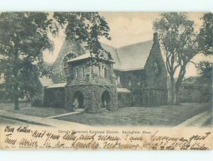Pre-1907 CHRIST'S PROTESTANT EPISCOPAL CHURCH Springfield Massachusetts MA Q1974