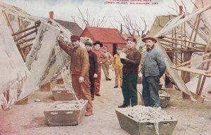 JONES Island , Milwaukee , Wisconsin , 00-10s ; Fishermen Drying Nets