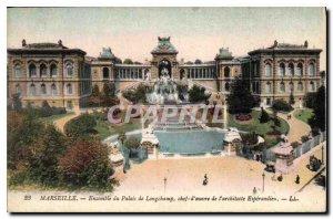 Old Postcard Marseille Ensemble Palace Longchamp expensive work of architect ...