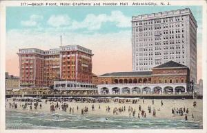 Beah Front Hotel Chalfonte And Haddon Hall Atlantic City New Jersey