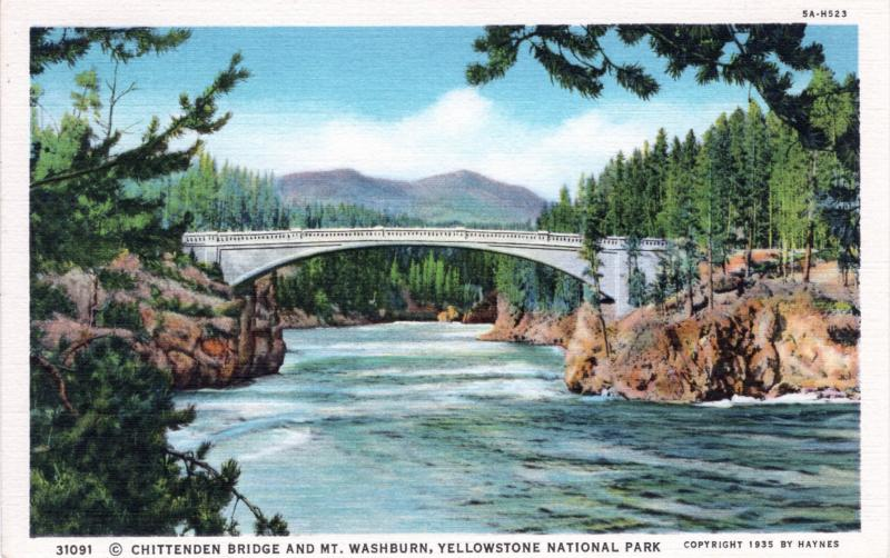 YELLOWSTONE NATIONAL PARK Haynes Linen Series.  31091.
