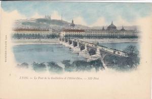 LYON, Le Pont de la Guillotiere & l'Hotel-Dieu, Rhone-Alpes, France, 00-10s