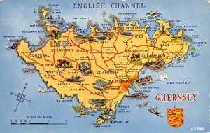 Maps English Channel Guernsey 1966