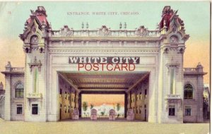 1909 ENTRANCE WHITE CITY, CHICAGO - one of most noted summer resorts in the city