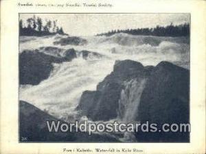 Sweden, Sverige Swedish Tourist Society, Small Postcard, Kalix River Swedish ...
