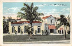 West Palm Beach Florida~Library~Spanish Style Building~WWI Memorial~1927 Pc