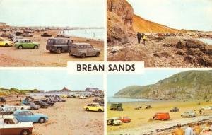 Vintage 1972 Postcard Brean Sands Multiview, Classic Cars, Somerset #524
