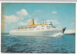 Fred Olsen Line; Liner Black Prince PPC, c 1960's, London - Canaries Official
