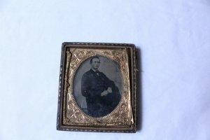 Vintage Daguerreotype In 1/2 Case Young Man