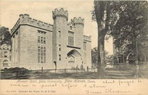 1901-1907 Lithograph Postcard; Alumni Hall, Yale University, New Haven CT Posted