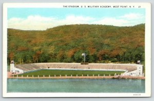 West Point New York~US Military Academy Stadium~No Game~1920s Postcard