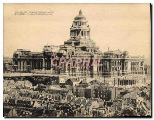 Postcard Old Grand Format Brussels Palace of Justice Panorama 18 * 14 cm