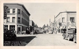 Coeur D'Alene Idaho Fourth Street Drug Store Real Photo Postcard AA17147
