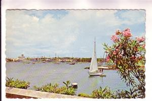 Hamilton Harbour, Bermuda, Canadian Postage Due Marking on Back