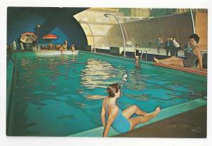 Atlantic City NJ Shelburne Hotel Indoor Swimming Pool Vtg Advertising Postcard