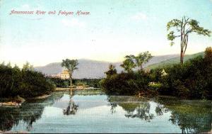 New Hampshire Amonoosac River and Fabyan House 1909