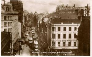 UK - Scotland. Glasgow, Argyle Street  *RPPC
