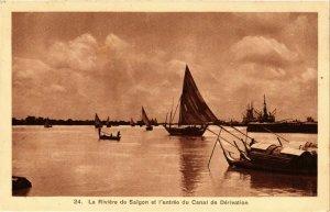 CPA AK INDOCHINA La Riviere de Saigon VIETNAM (957515)