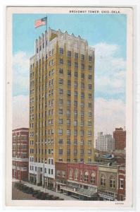 Broadway Tower Enid Oklahoma 1932 postcard
