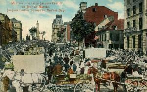 Canada - Quebec, Montreal. Jacques-Cartier Square, Market Day