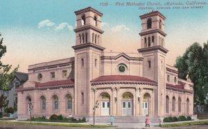 ALAMEDA, California, 1900-10s; First Methodist Church, Central Avenue & Oak S...