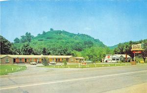 Old Hickory Lake TN Pine Cove Motel 6 miles From Nashville Old Cars Postcard