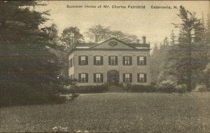 Cazenovia NY Mrs. Charles Fairchild Home c1920s Postcard