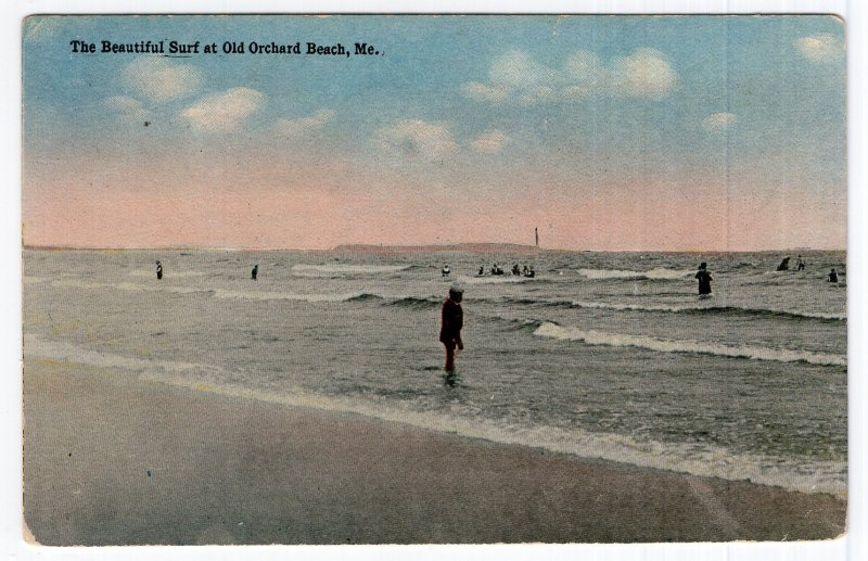 The Beautiful Surf at Old Orchard beach, Me