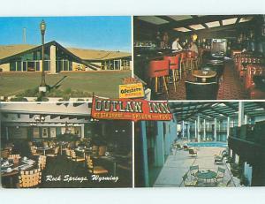 Unused Pre-1980 OUTLAW INN MOTEL & RESTAURANT Rock Springs Wyoming WY u4292@
