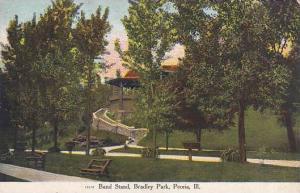 Illinois Peoria Band Stand Bradley Park