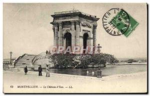 Old Postcard Chateau d & # 39eau Montpellier