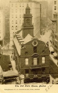 MA - Boston. Old State House circa 1900