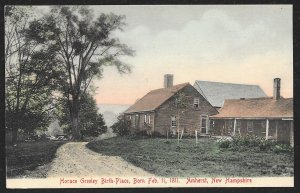 Horace Greeley Birth Place Amherst New Hampshire Used c1905