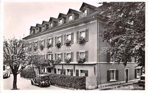 Switzerland Old Vintage Antique Post Card Schonenwerd Hotel Storchen Unused