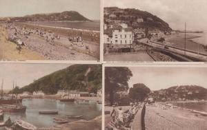 Minehead Hotel Quay Harbour 4x Antique Postcard s