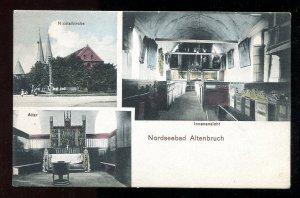 dc1478 - Nordseebad ALTENBRUCH Germany 1910s Nicolaikirche