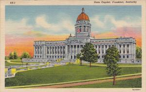 State Capitol Building Frankfort Kentucky 1955 Curteich