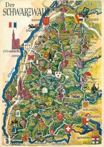 Germany Postkarte Schwarzwald map region