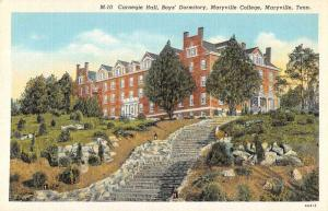 Maryville Tennessee College Carnegie Hall Boys Dorm Postcard JD933886