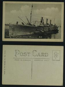 Coaling Transpacific liner Vancouver c 1920s-30s
