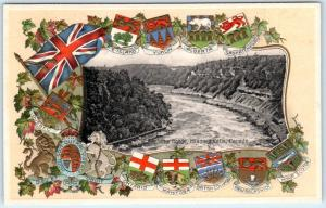 THE GORGE Niagara Falls, Canada  Embossed FLAGS & CRESTS   c1910s   Postcard