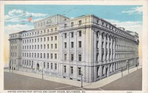 BALTIMORE, Maryland, PU-1932; United States Post Office And Court House