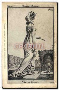 Old Postcard History of Costume Costume Parisian Rue de Rivoli