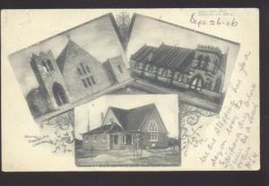 DOUGLAS ARIZONA CHURCH BUILDING VINTAGE MULTI VIEW POSTCARD EVANSTON ILL.