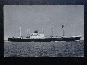 Shipping Dutch Cargo Ship MV KINDERDYK Holland America Line - Old Postcard