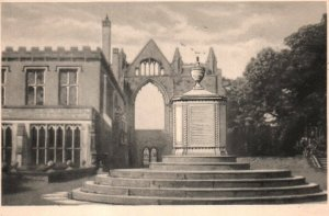 RPPC Nottinghamshire England UK Newstead Abbey Monument To Boatswain Lord Byron