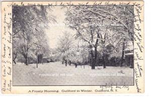 Guilford NY in the Winter