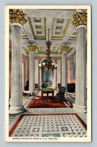Marble Room Of Senate, US Capitol, Vintage Washington DC Postcard