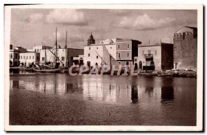 Old Postcard Bizerte View From Old Port Yacht