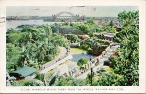 Sydney Harbour Bridge Taronga Park Zoo Australia AU c1956 Postcard E45 *As Is